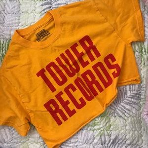 Tower Records crop top